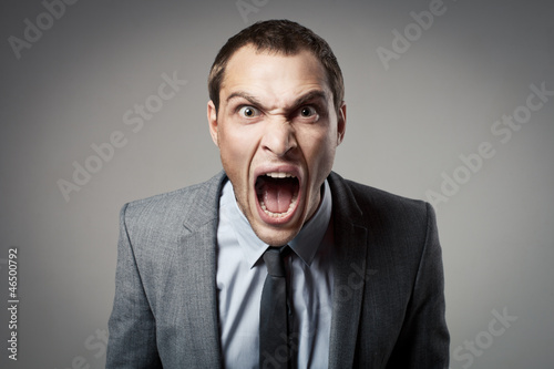 Carta da parati Angry businessman shouting