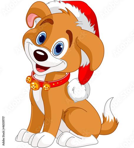 Printed kitchen splashbacks Fairytale World Christmas dog