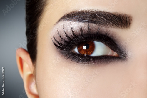 Obraz Eye with black fashion make-up - fototapety do salonu