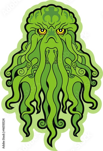 Photo  Cthulhu. Sea green monster