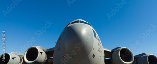 American C-17 Globemaster jet transport airplane Wallpaper Mural