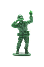 白背景に兵士の玩具