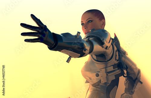 plakat Cyborg girl