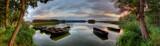 Fototapeta Pomosty - Boats and lake