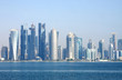 Beautiful broad view of Doha skyline, Qatar