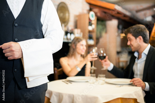 Fotobehang Restaurant Dinner in a luxury restaurant