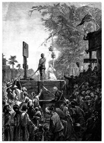 Photo Asia - Execution : an European Prisoner - 19th century