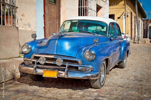 Canvas Prints Cars from Cuba Classic Chevrolet in Trinidad, Cuba.