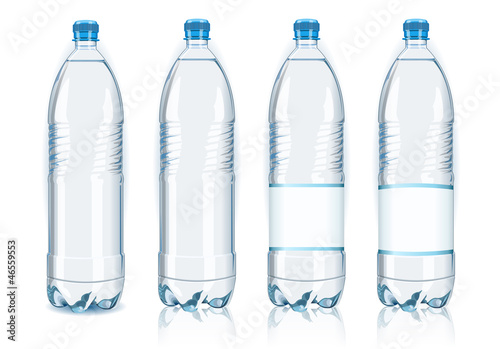 Photo  Bottle Water Vector Plastic Isolated