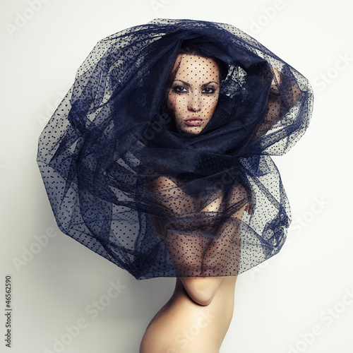 Aluminium Prints Bestsellers Gorgeous lady under veil