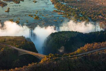 fototapeta Victoria Falls z powietrza