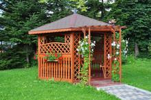 Gazebo In The Garden - Wooden House