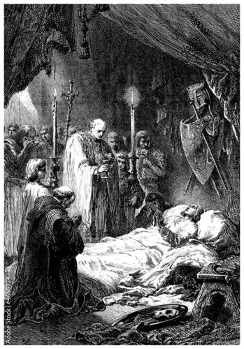 Fotografía Dying King - 13th century (Louis IX - France)