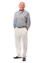 Handsome Senior Man Standing