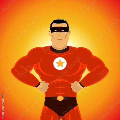 Poster Superheroes Comic-like Super-Hero