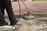 Fototapeta Kamienie - paving cleaning