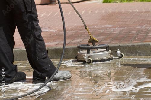 Fototapeta paving cleaning obraz