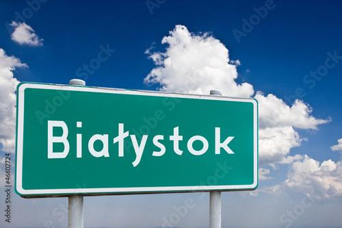 Obraz Znak Białystok - fototapety do salonu