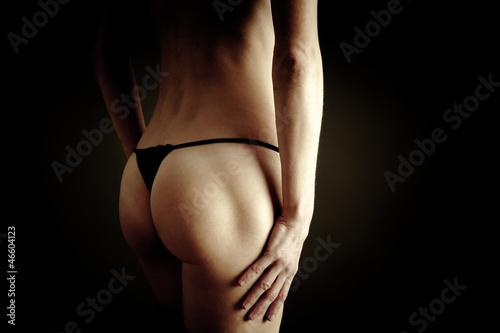 Fototapeta Erotic view of female back obraz na płótnie