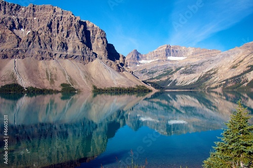 Foto op Canvas Natuur Reflections on Bow Lake