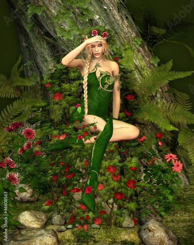La pose en embrasure Fées, elfes Deep Forest Fae