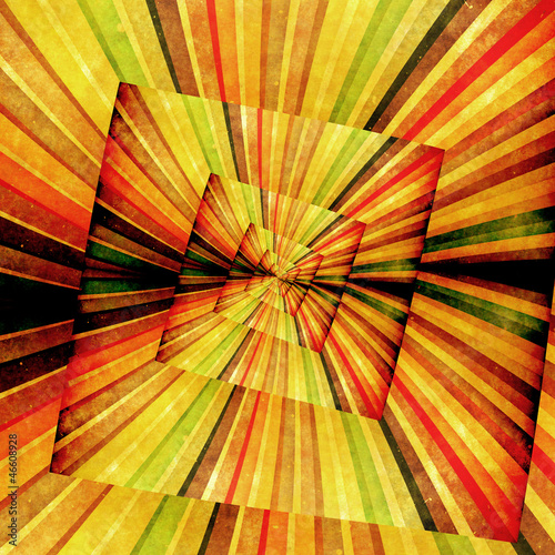 Aluminium Prints Psychedelic Multicolor Sunbeams grunge background