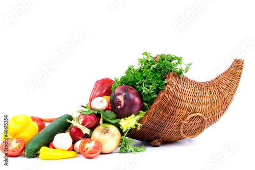 Autumn cornucopia and vegetables