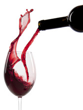 Pouring Red Wine In A Glass