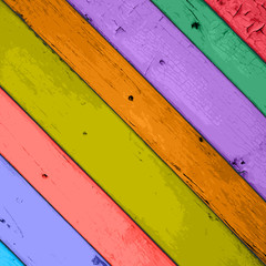 Colorful Wooden Planks Background