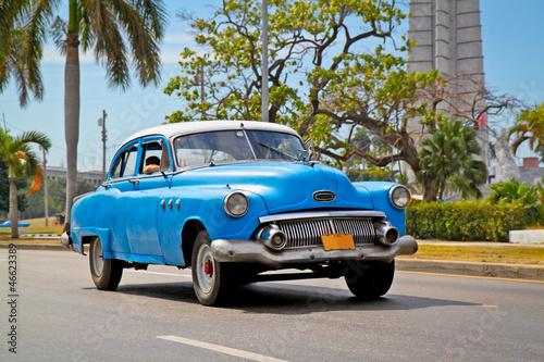 American classic cars in Havana.