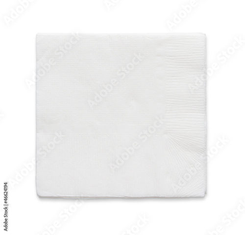Fotografie, Obraz  Blank paper napkin isolated on white background with copy space