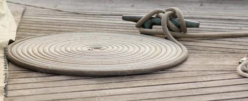 Fotografía  twisted mooring rope