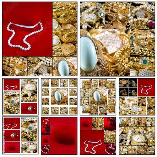 Collage - Gold jewels - 46634797