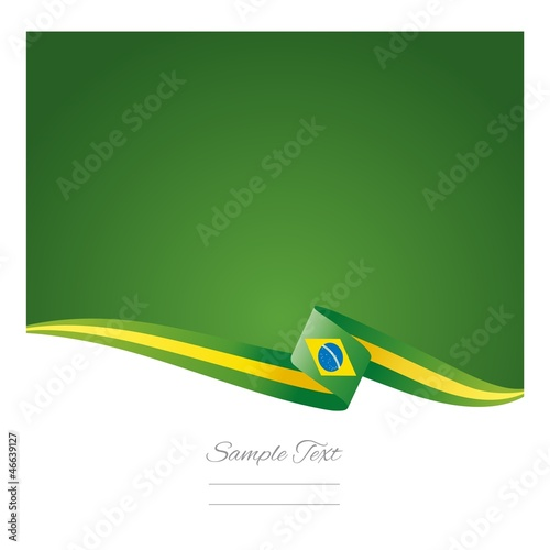 Photo  Abstract color background Brazilian flag vector