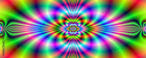 Poster Psychedelic Psychedelic Neon Banner