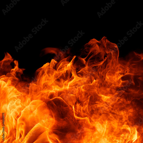 Canvas Prints Fire / Flame blaze fire flame on black background