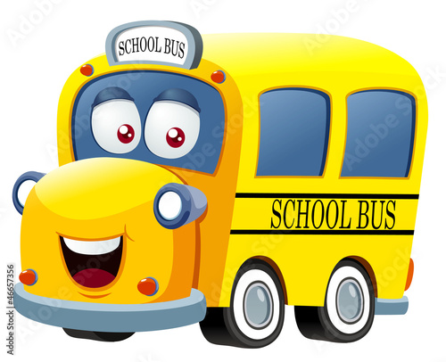 Recess Fitting Cars illustration of School bus cartoon vector