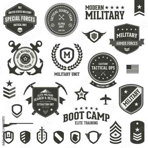 Military badges Canvas Print