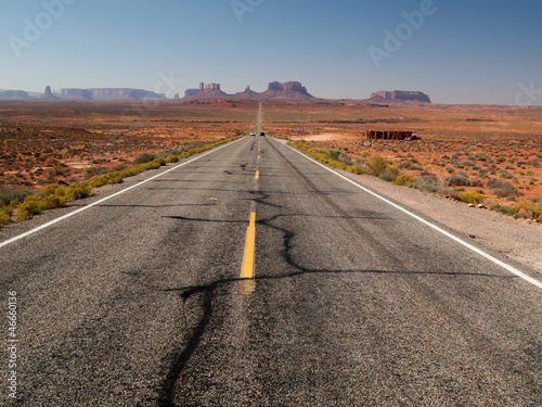 Foto op Canvas Route 66 Route de Monument Valley - à perte de vue