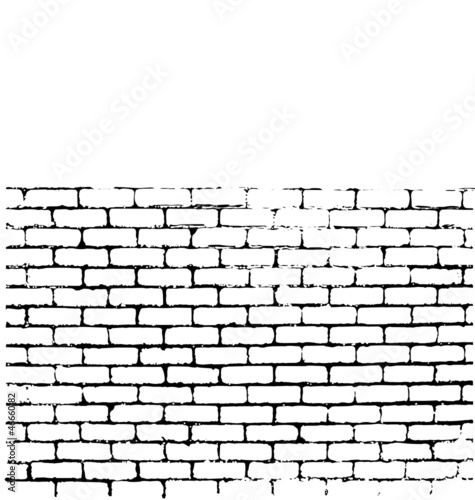 Spoed Foto op Canvas Graffiti Brick wall of negative space vector