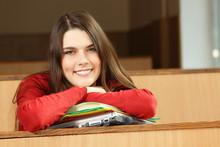 Beautiful Teen Girl High Achiever In Classroom