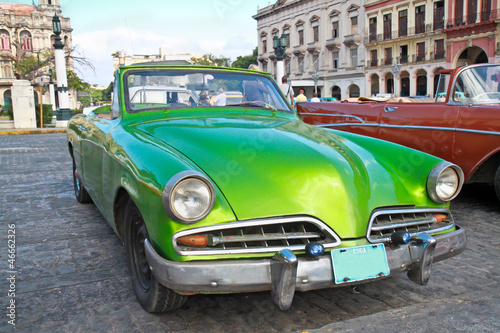 Poster Cars from Cuba Classic citroen in Havana.