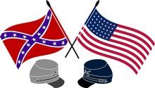 American Civil War. Stencil. First Variant