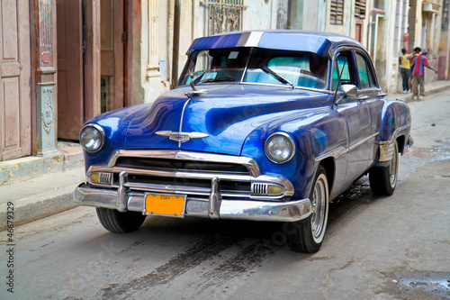 Poster Cars from Cuba Classic Oldsmobile in Havana.