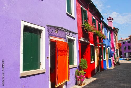 Fototapeta  maisons colorées de Burano 15