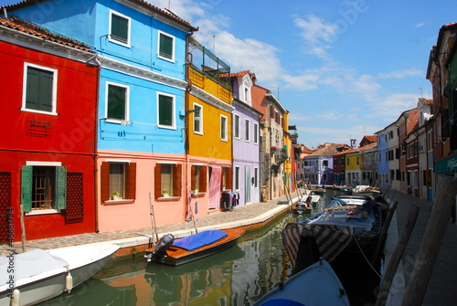 Photo canaux de Burano