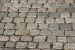 Granite gray town pavement close-up as background