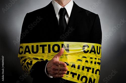 Fotografia  Caution Hand Shake