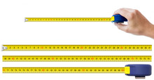 Human Hand With Tape-measure And Set Of Pieces Allowing To Make