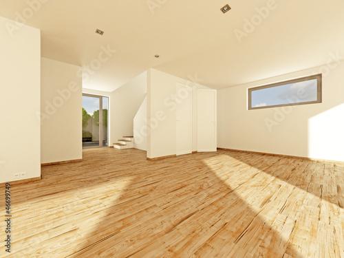 Einfamilienhaus Leerstand Wohnzimmer Treppe Kuche 3d Buy This